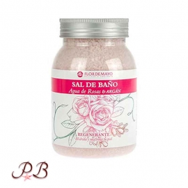 Sales de baño agua de Rosas con Argán