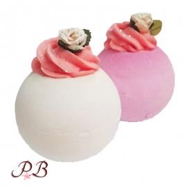 Bomba de baño Rosa Blanca o Rosa